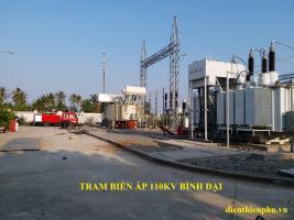 Lắp máy biến áp T2 - 40MVA Trạm biến áp 110KV Bình Đại